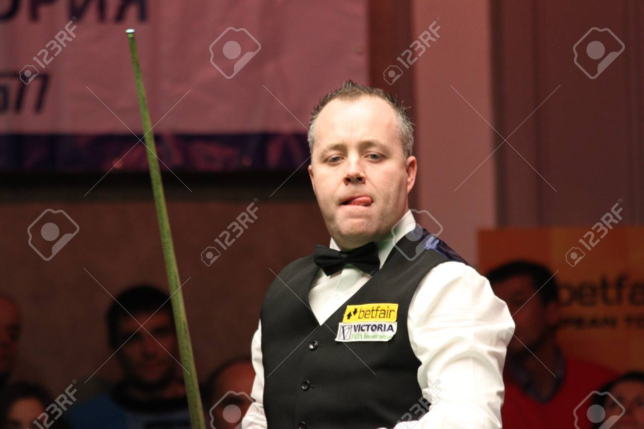 John Higgins Is Playing Snooker During World Snooker Tournament Stock Photo Picture And Royalty Free Image Image 97263710