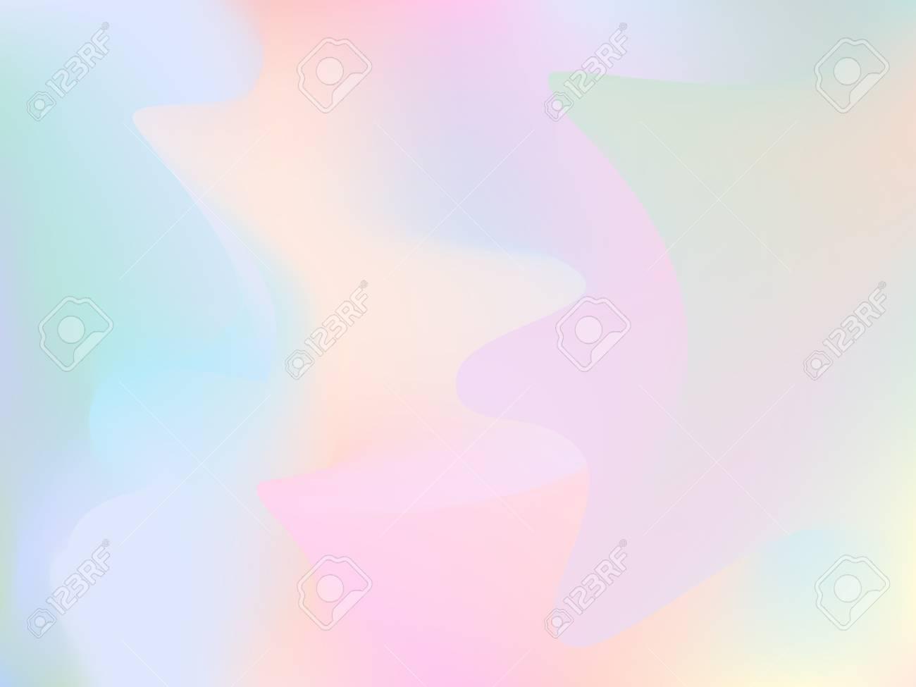 ぼやけてホログラム背景 トレンディな絹のようなグリッチの壁紙 虹色