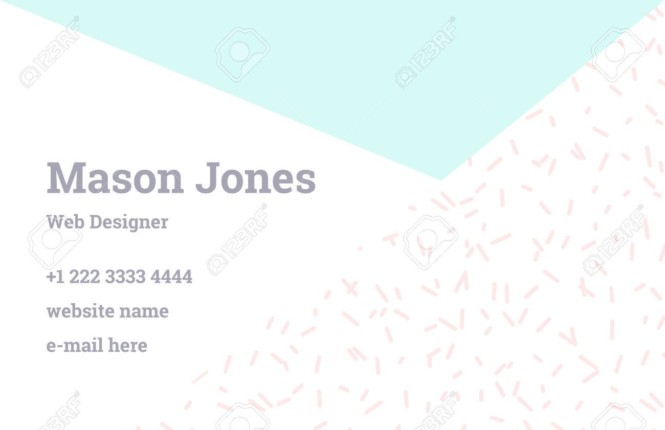 Fashion business card template in the style of memphis perfect fashion business card template in the style of memphis perfect combination of pattern and geometric accmission Image collections