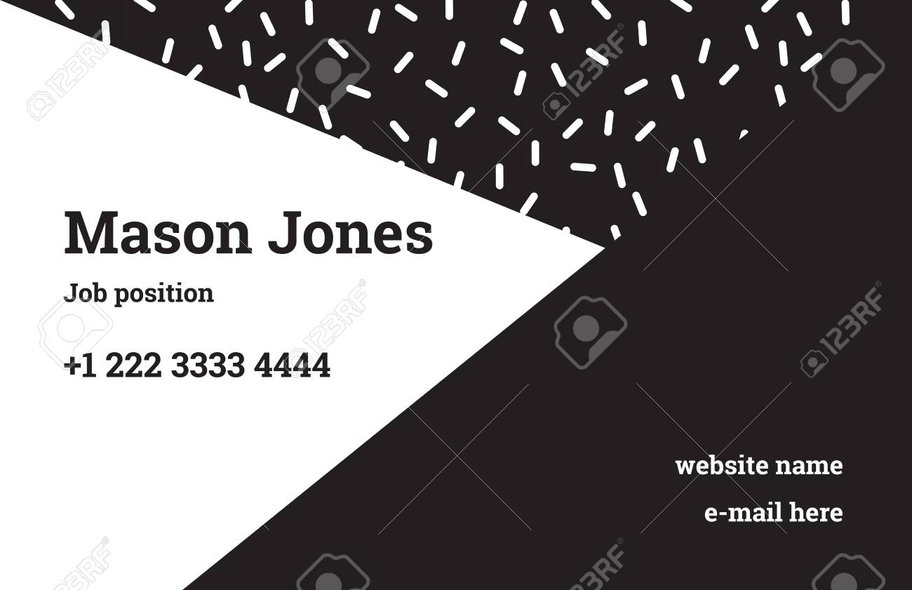 Fashion business card template in the style of memphis royalty free fashion business card template in the style of memphis stock vector 79734438 accmission Image collections