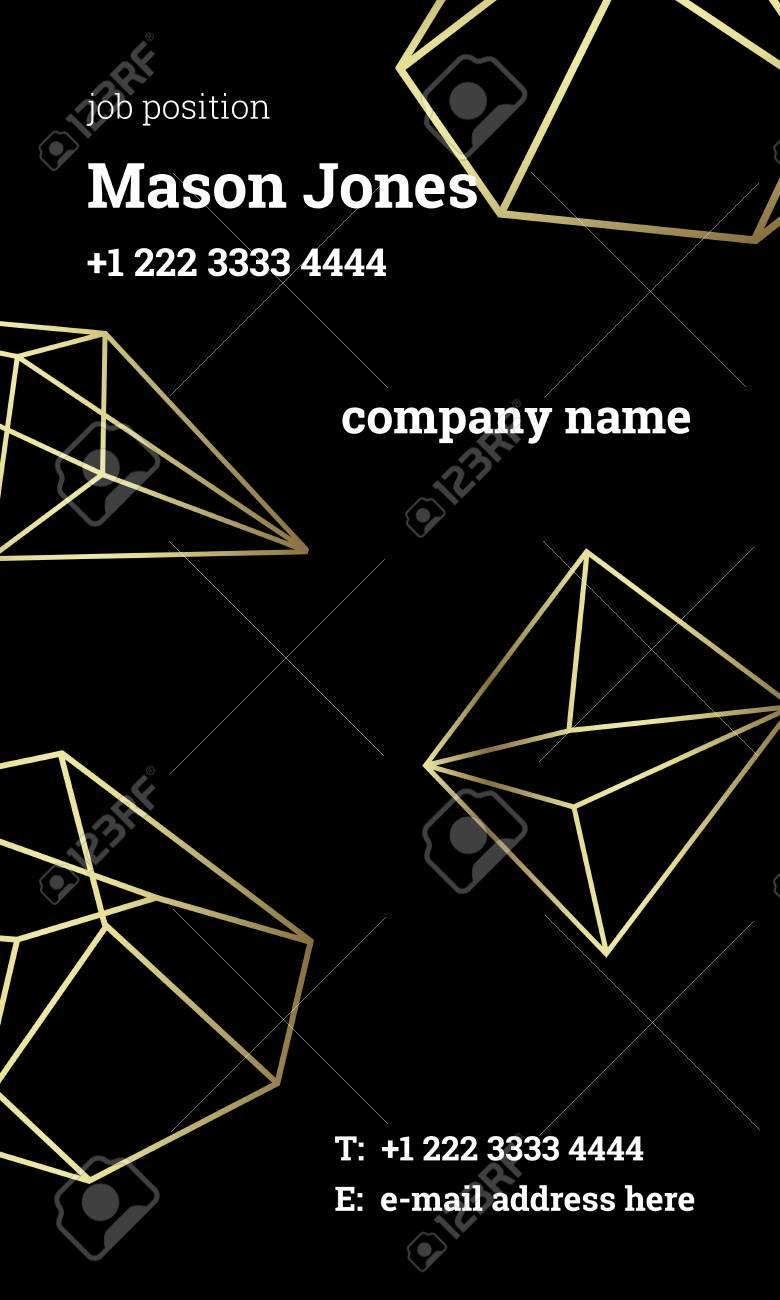 standard vertical business card size