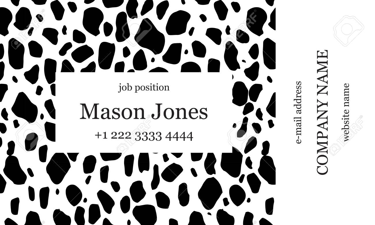 Black And White Business Card Template. Strict Minimalist Style ...