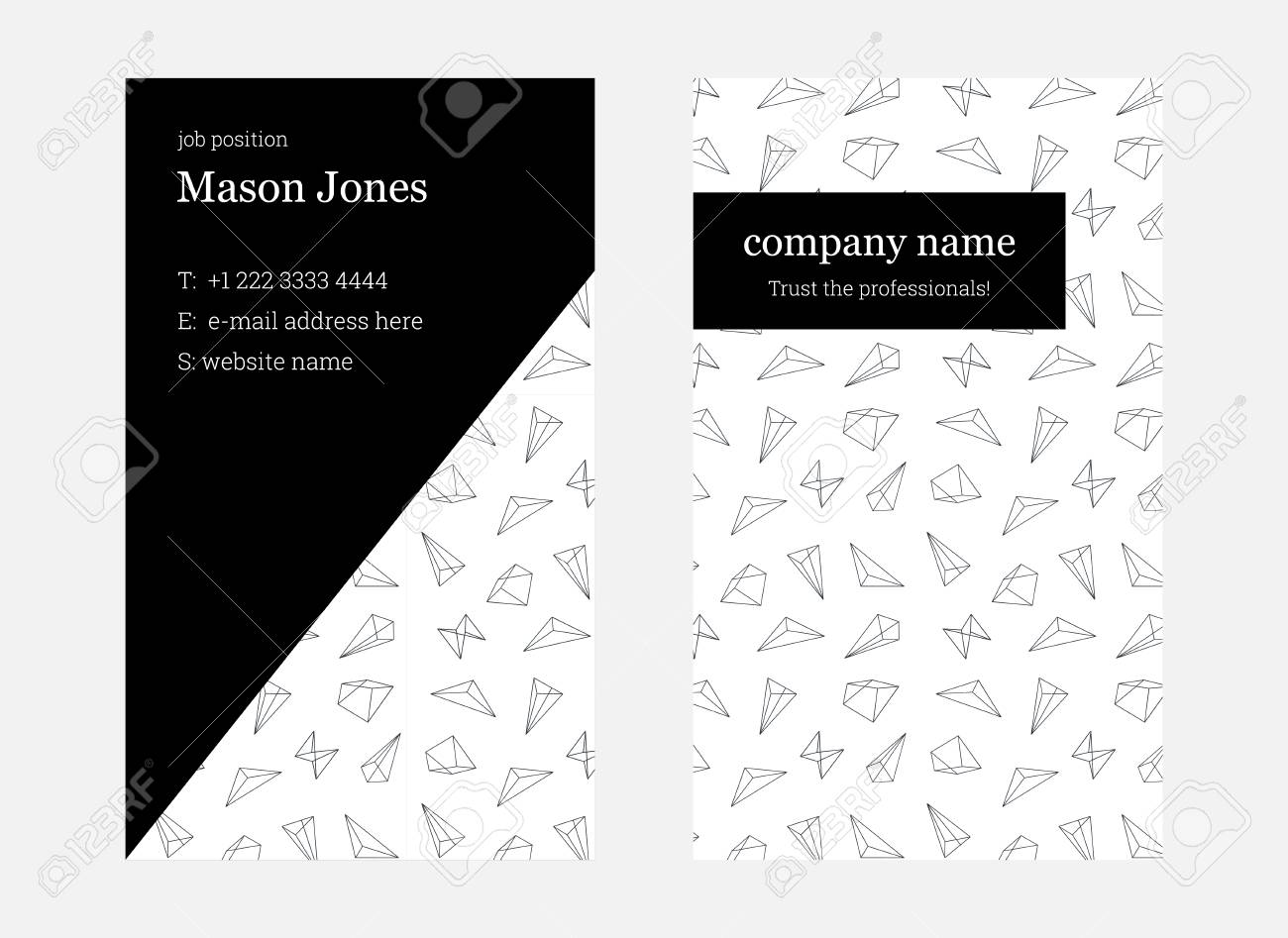 White and pink double sided business card template us standard vector white and pink double sided business card template us standard size 2x35 in with bleed size 0125 in vector minimal and light style colourmoves