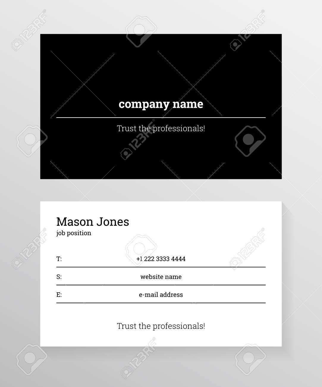 Double sided business card template information on the black double sided business card template information on the black lines on white background cheaphphosting Gallery