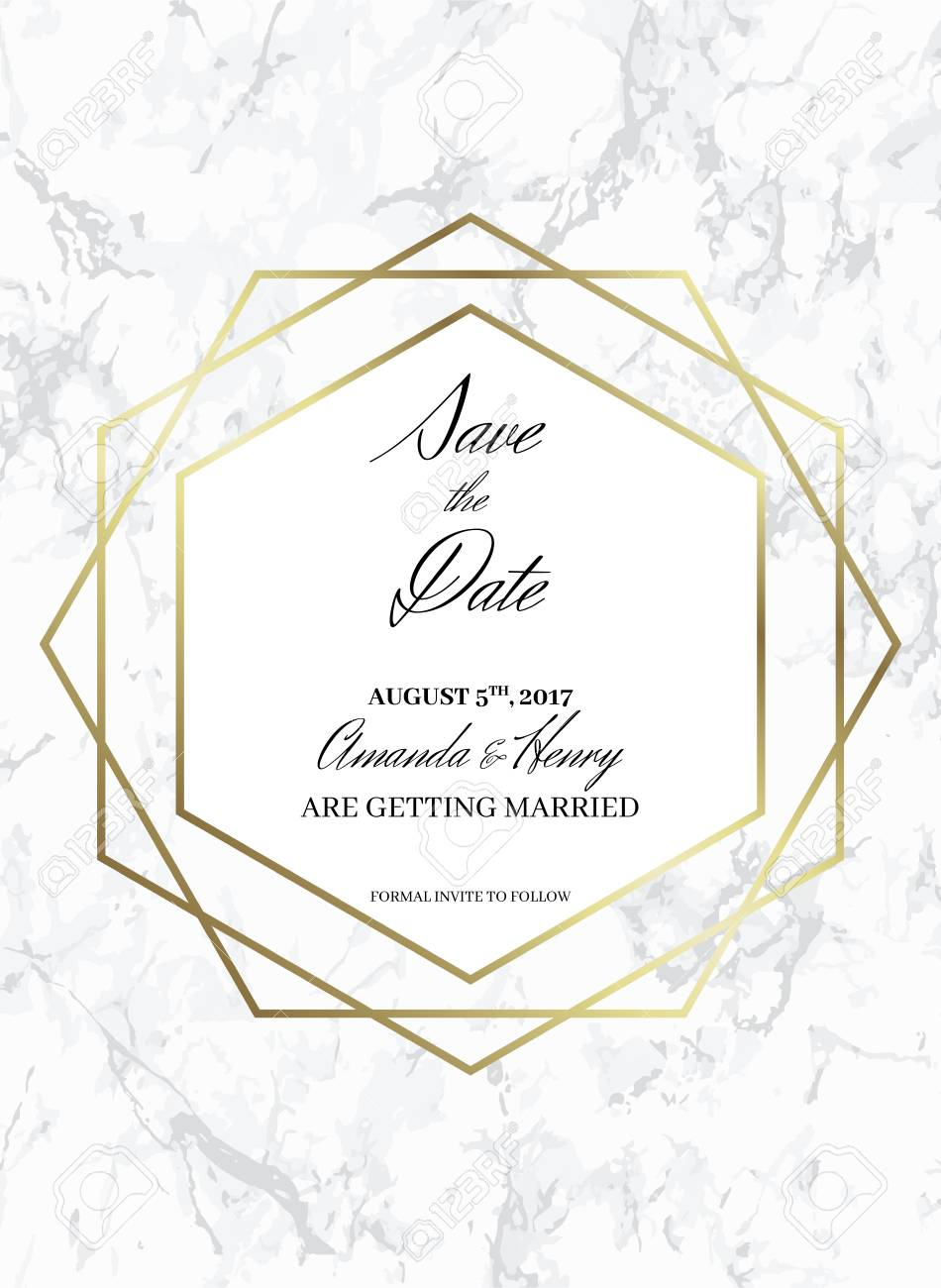 Save The Date Design Template Formal Invite To Follow White