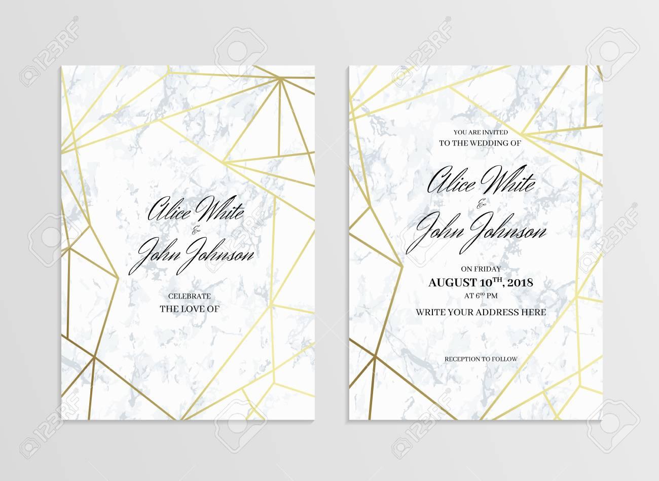 Invitation Card Template Of Geometric Design Two Side Invitation