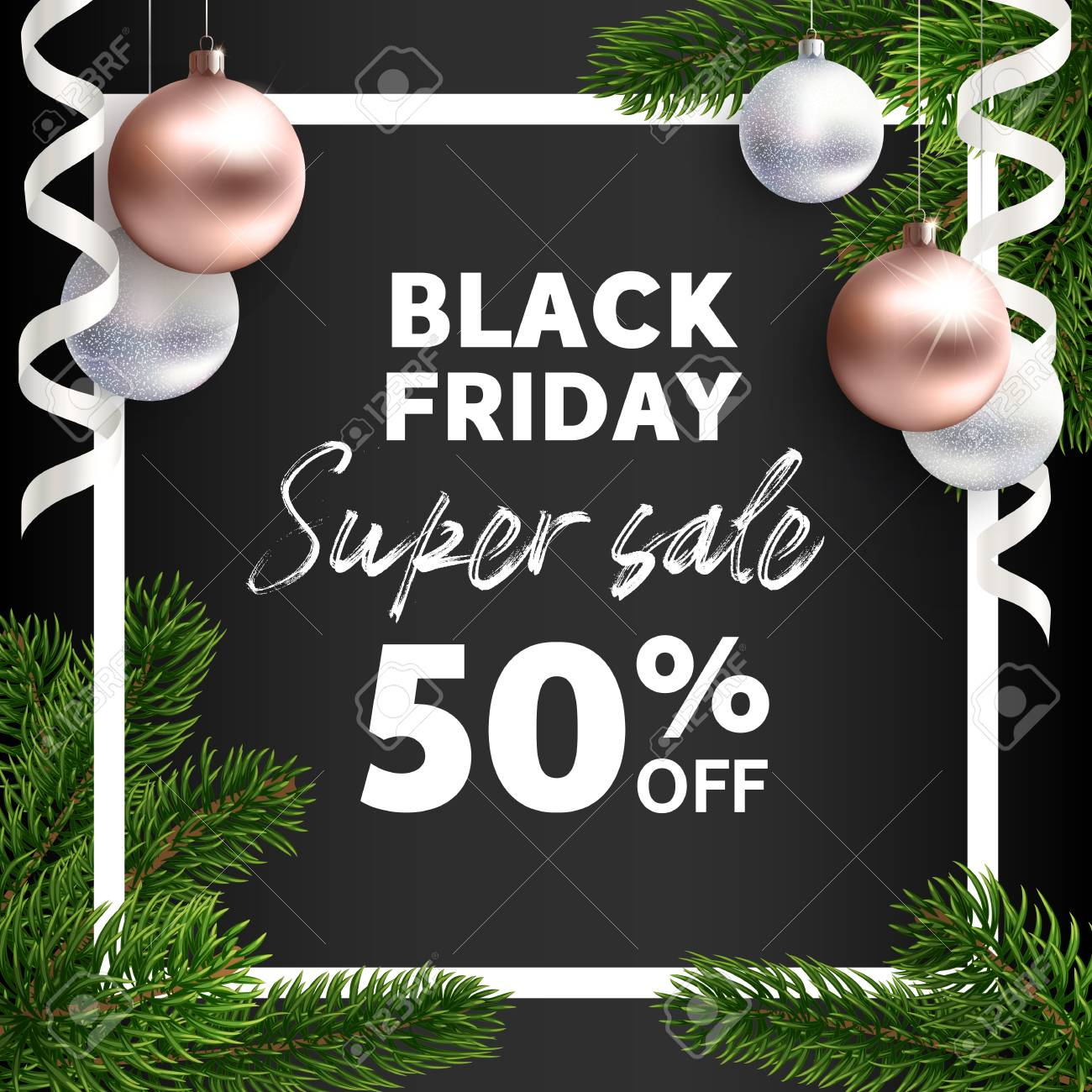 Black Friday Sale Vector Flyer Template Realistic Illustration Royalty Free Cliparts Vectors And Stock Illustration Image 111497426