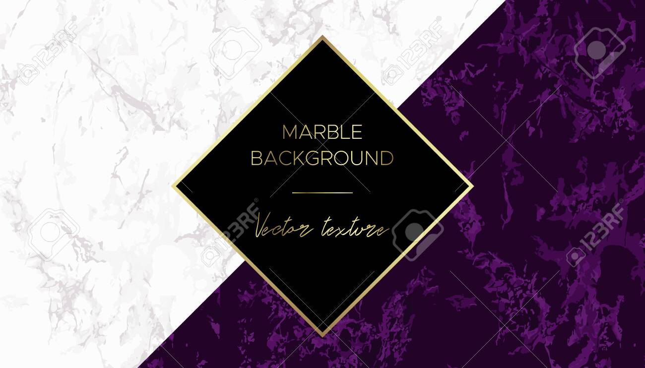 Marble Background Chic Design Card In Purple And White Colors Royalty Free Cliparts Vectors And Stock Illustration Image 122519524