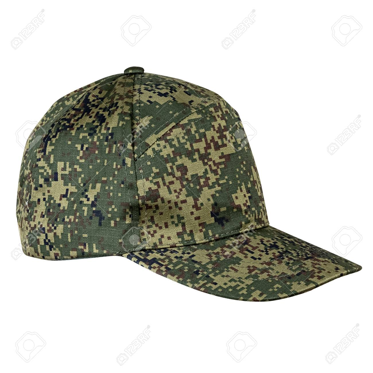aa33aa4ad356db Military cap, khaki helmet, isolated white background Stock Photo - 75568243