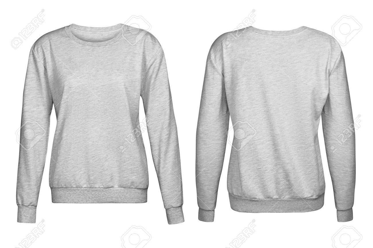 Gray sweater, mockup,, on white background - 79859745