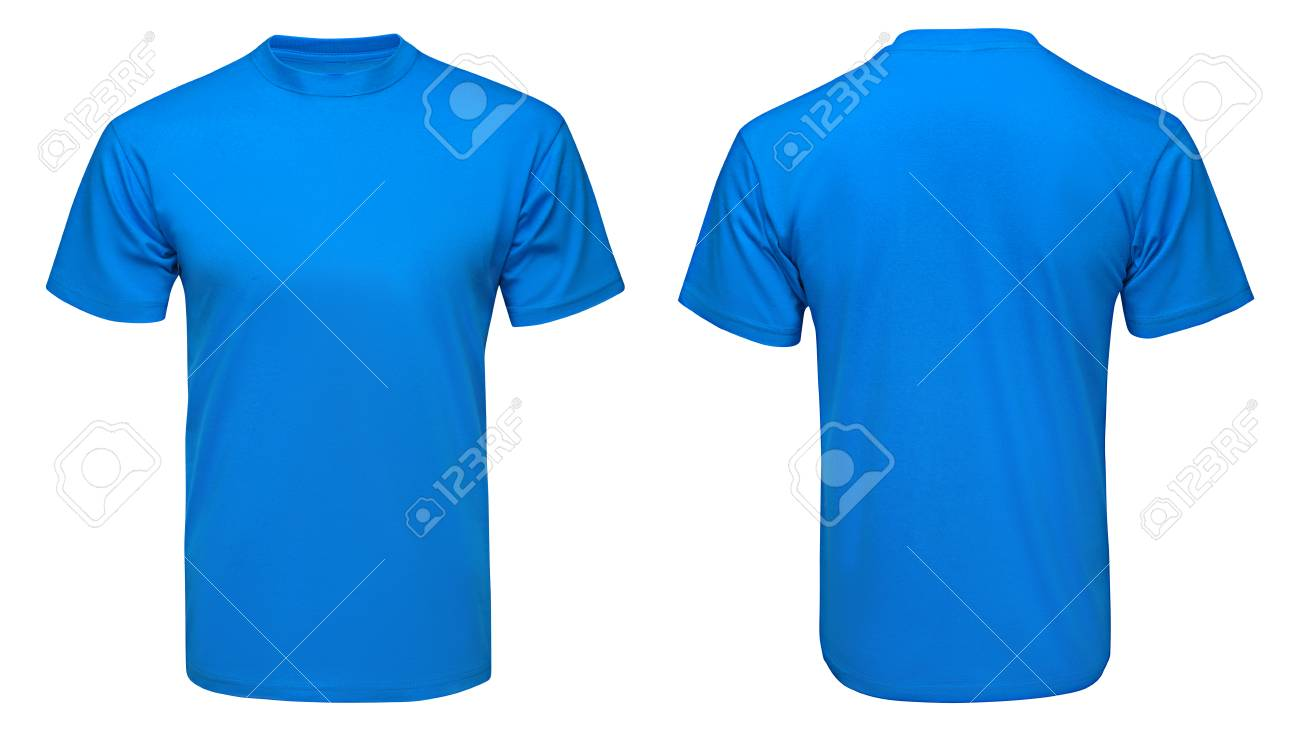Blue T Shirt Template Hayzel Molicommunications Com