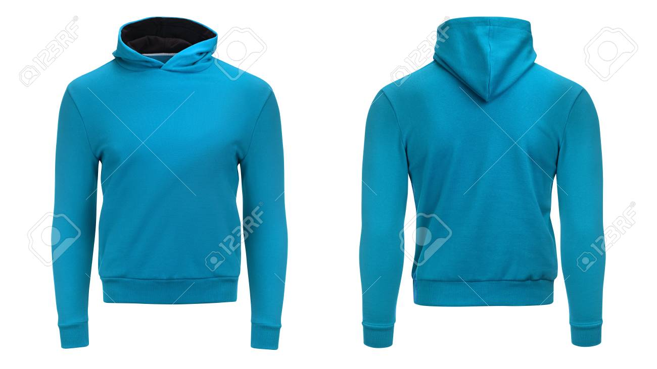 Blank Blue Male Hoodie Sweatshirt With Clipping Path, Mens Pullover ...