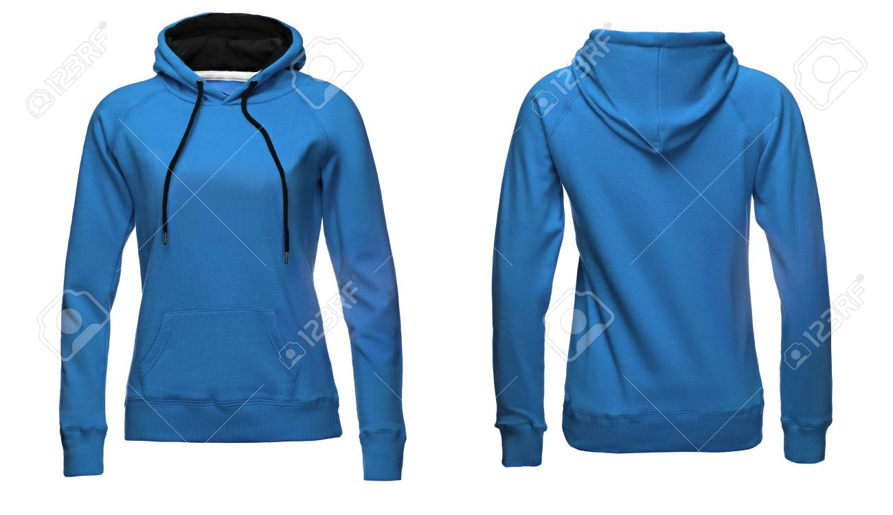 Blank Sweatshirt Template Front And Back View Isolated On White