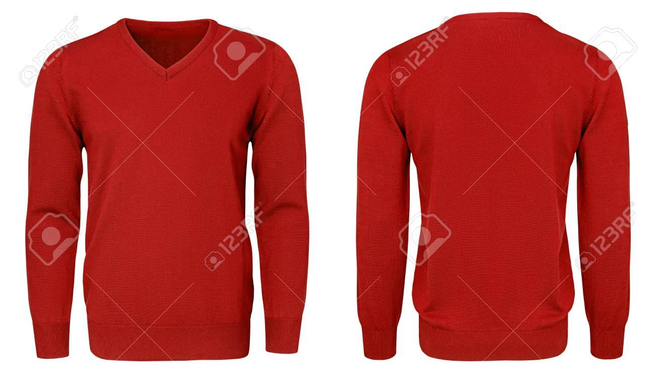 daa4212b875 Blank Template Mens Red Sweatshirt Long Sleeve