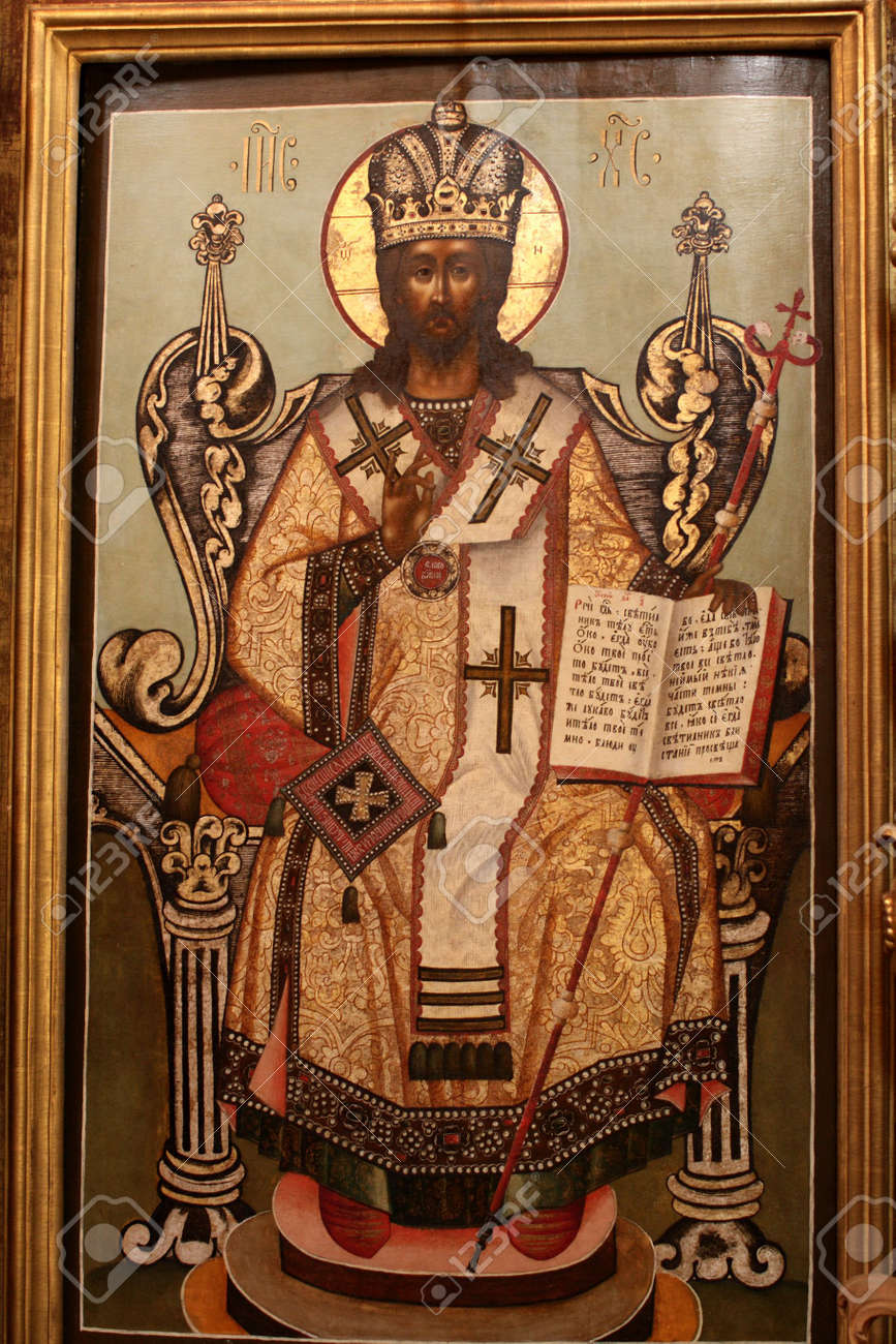 The icon of Saint in a orthodox church Stock Photo - 3229811