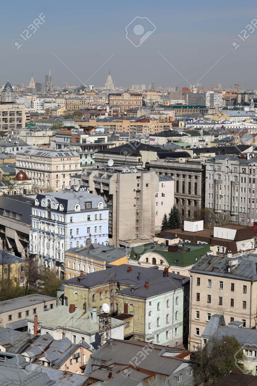 Moscow center at day in summer, Russia Stock Photo - 14076057