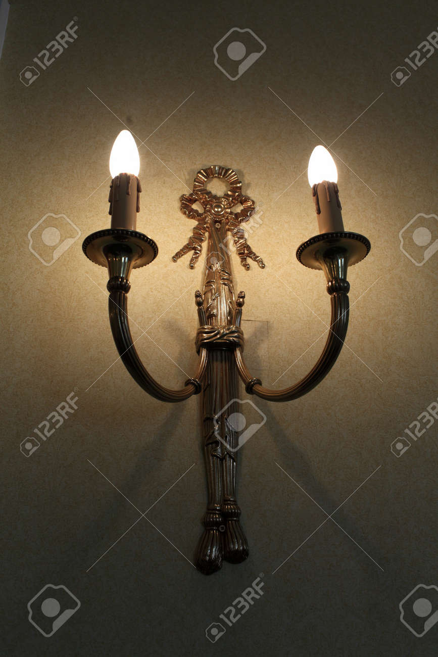 Lamp on the wall in a hotel at night Stock Photo - 18121681