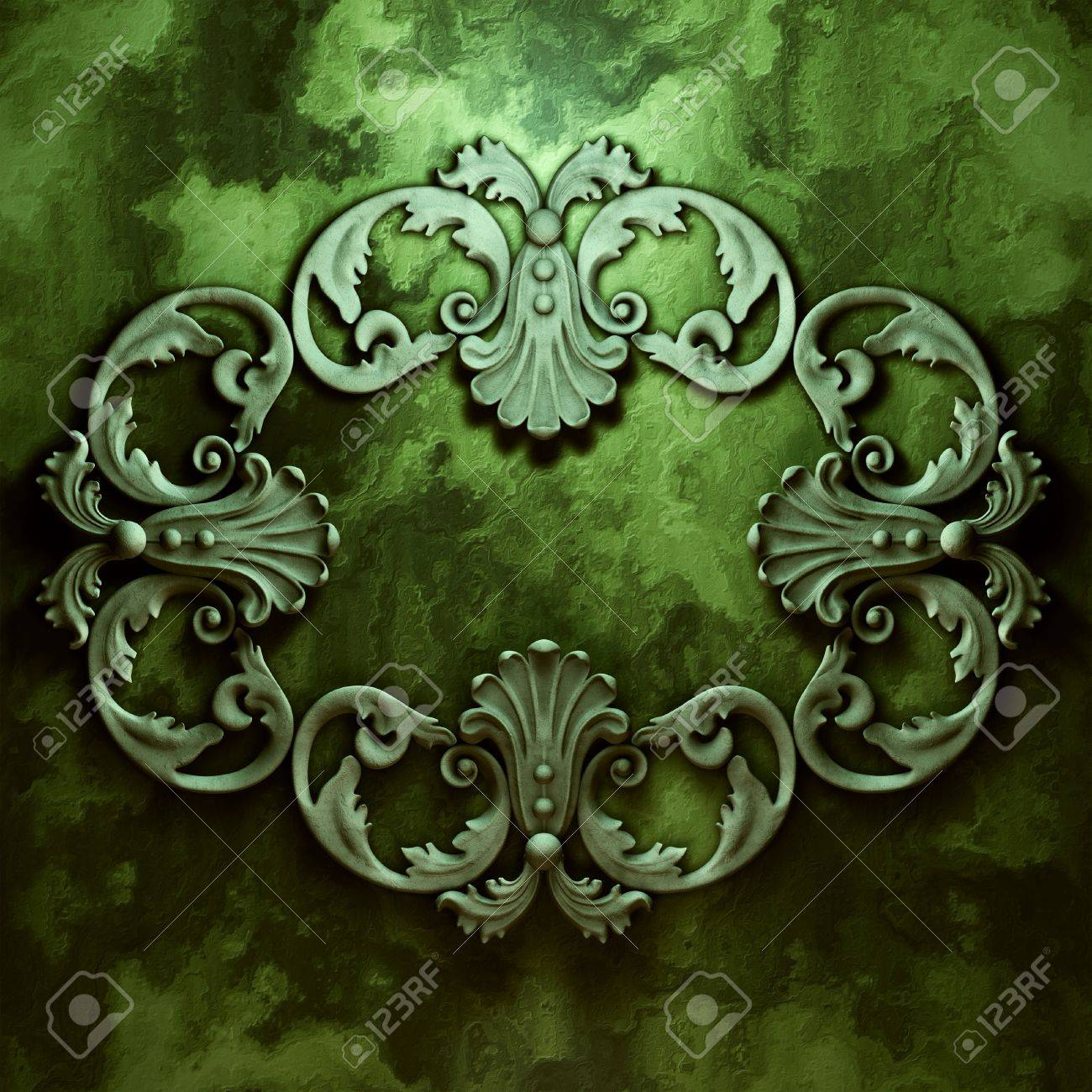 3d ceramic ornament, the sculptural form on a wall Stock Photo - 9141086