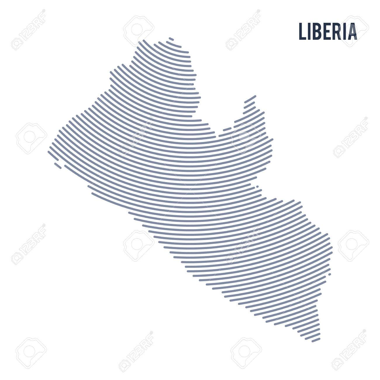 Vector abstract hatched map of liberia with curve lines isolated vector vector abstract hatched map of liberia with curve lines isolated on a white background travel vector illustration freerunsca Gallery
