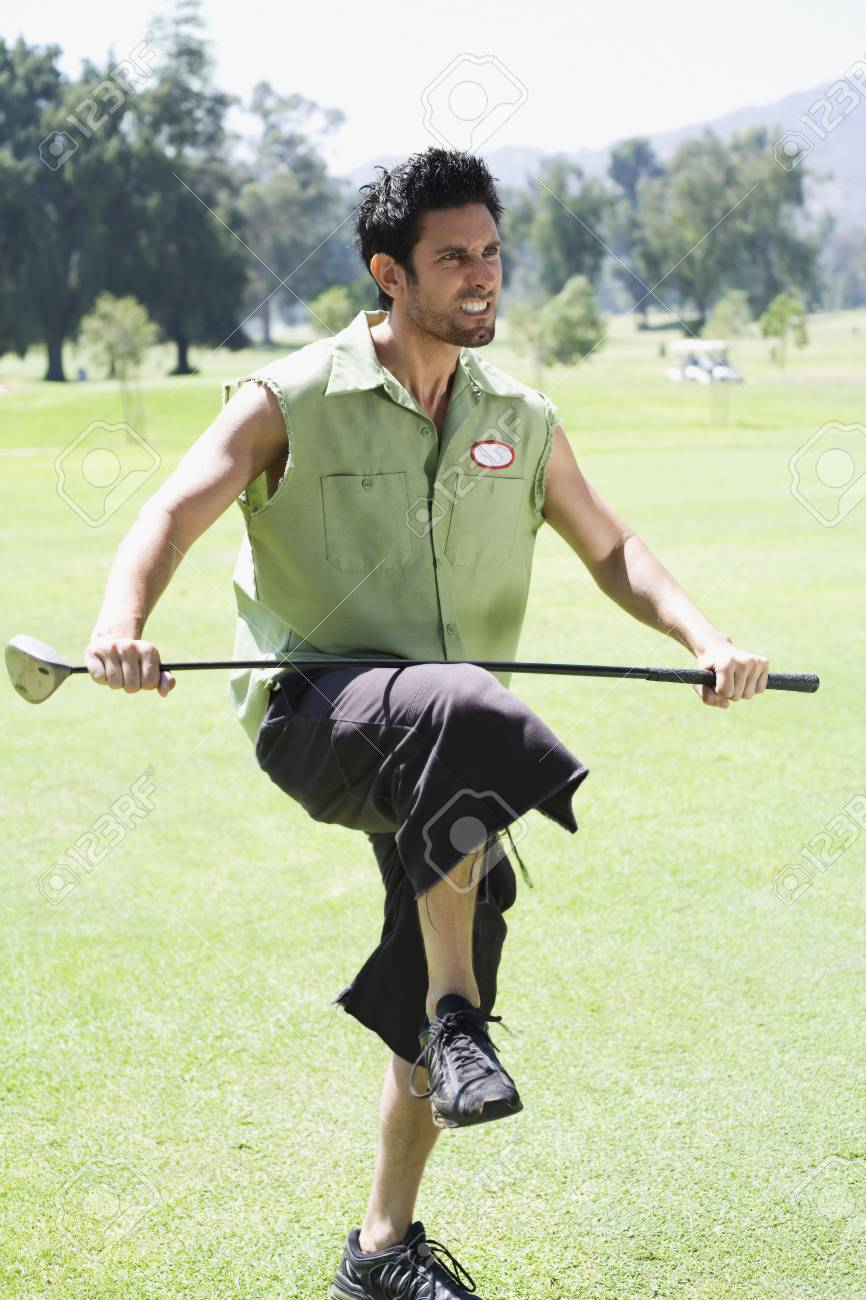 Angry Golfer Stock Photo Picture And Royalty Free Image Image