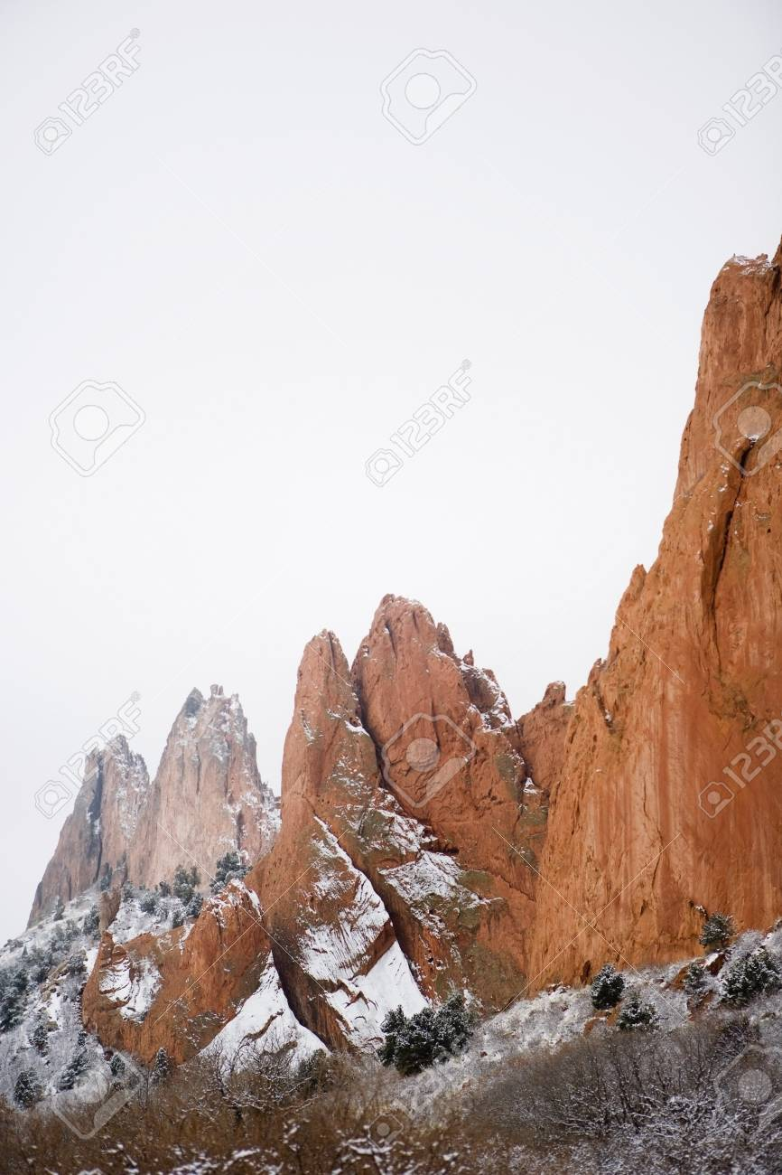 Red Sandstone Formations At Garden Of The Gods Park Colorado