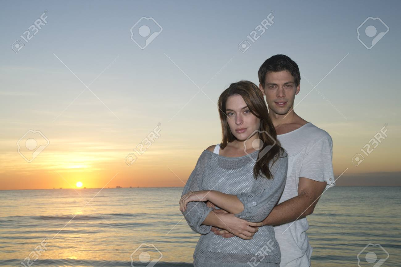 Portrait Of Couple At Sunset Reef Playacar Resort And Spa Playa