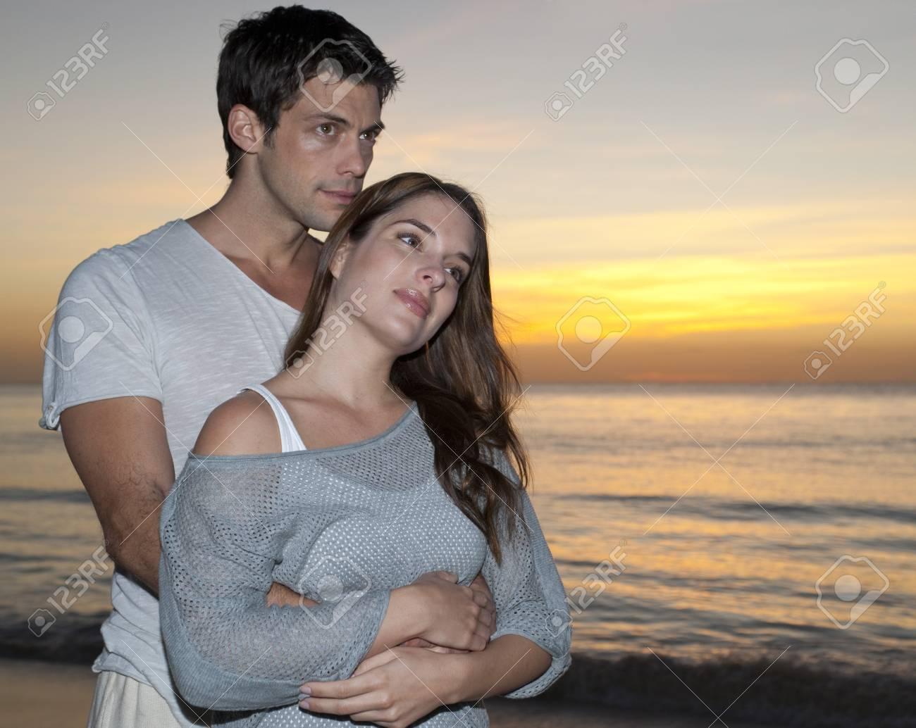 Couple At Sunset Reef Playacar Resort And Spa Playa Del Carmen