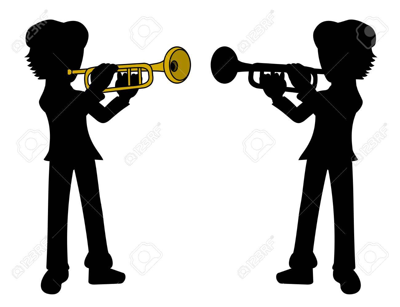 648 Kid With Trumpet Stock Vector Illustration And Royalty Free ...
