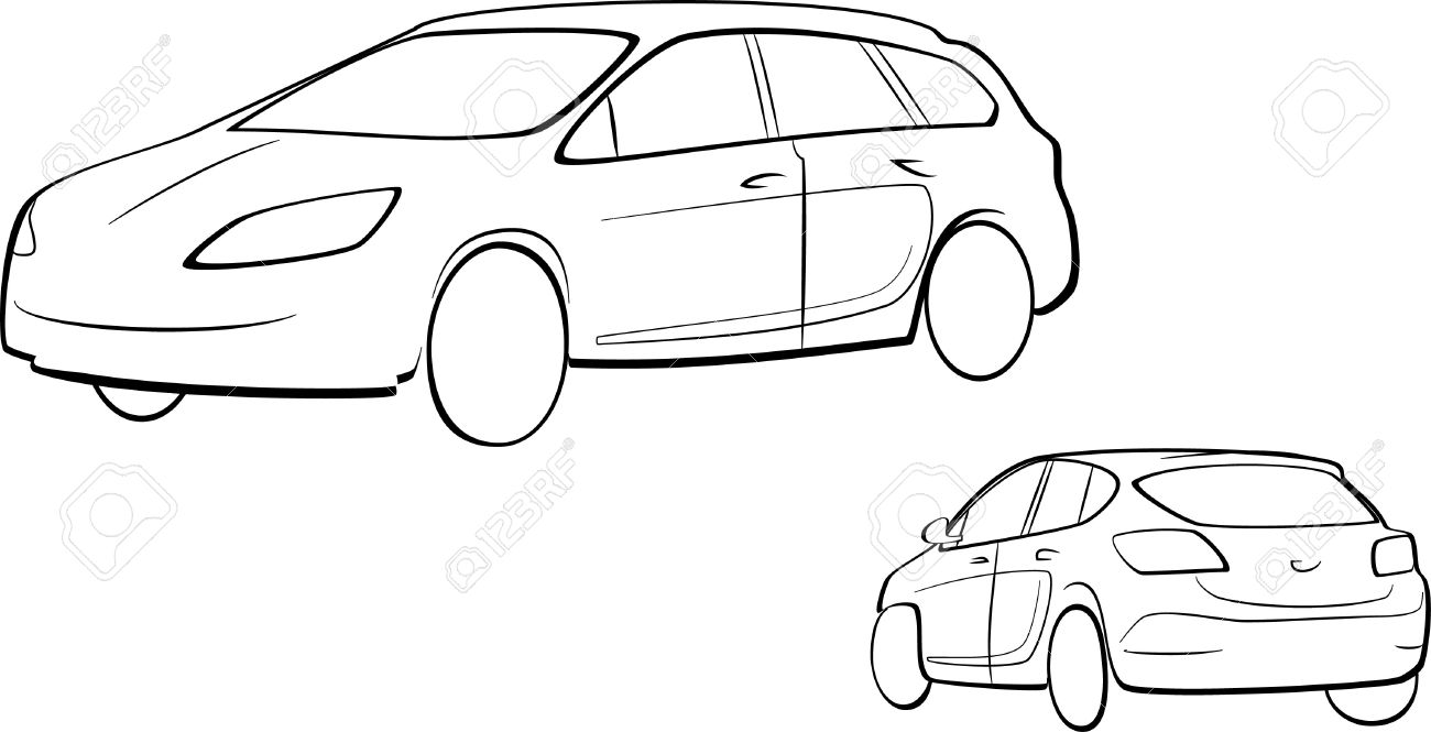 car outline royalty free cliparts vectors and stock illustration