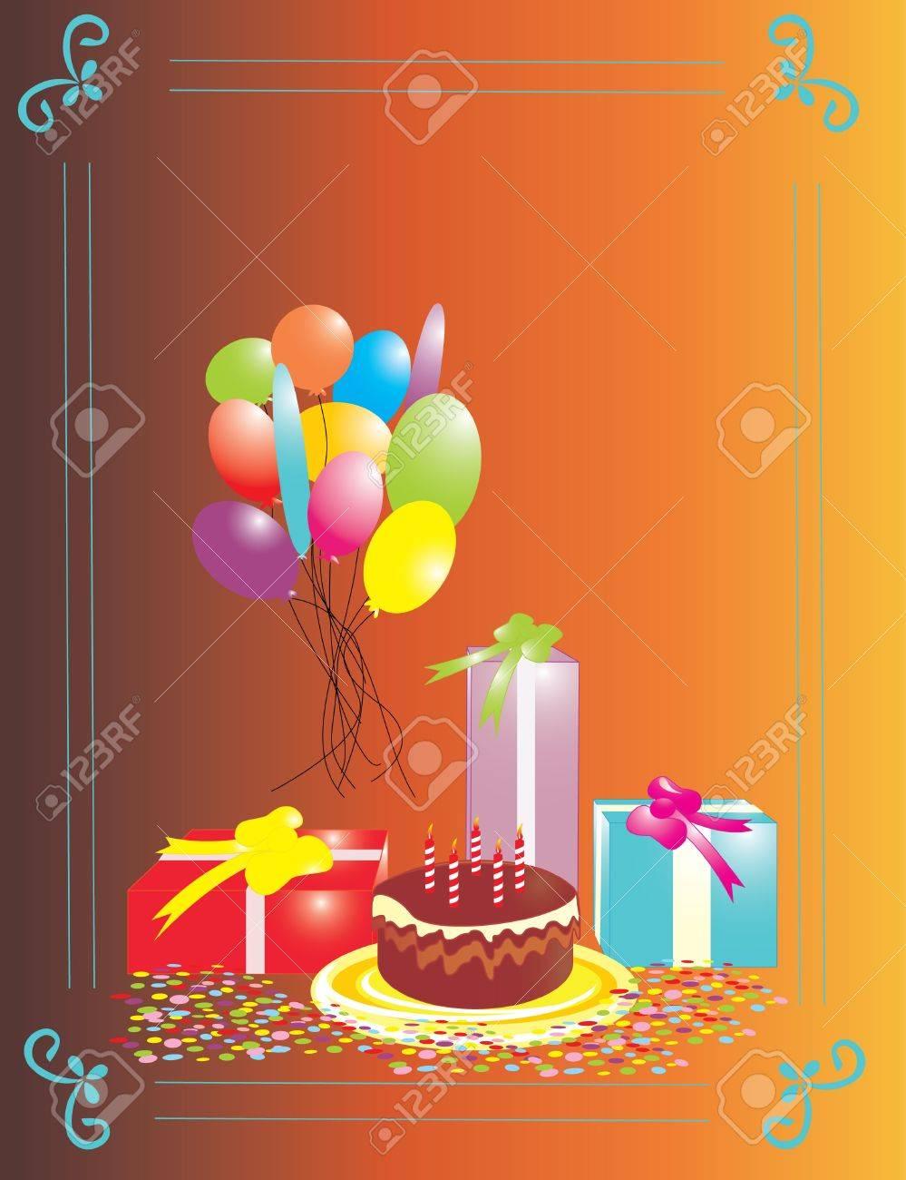 Birthday Invitation Background Royalty Free Free Business - Birthday invitation background vector