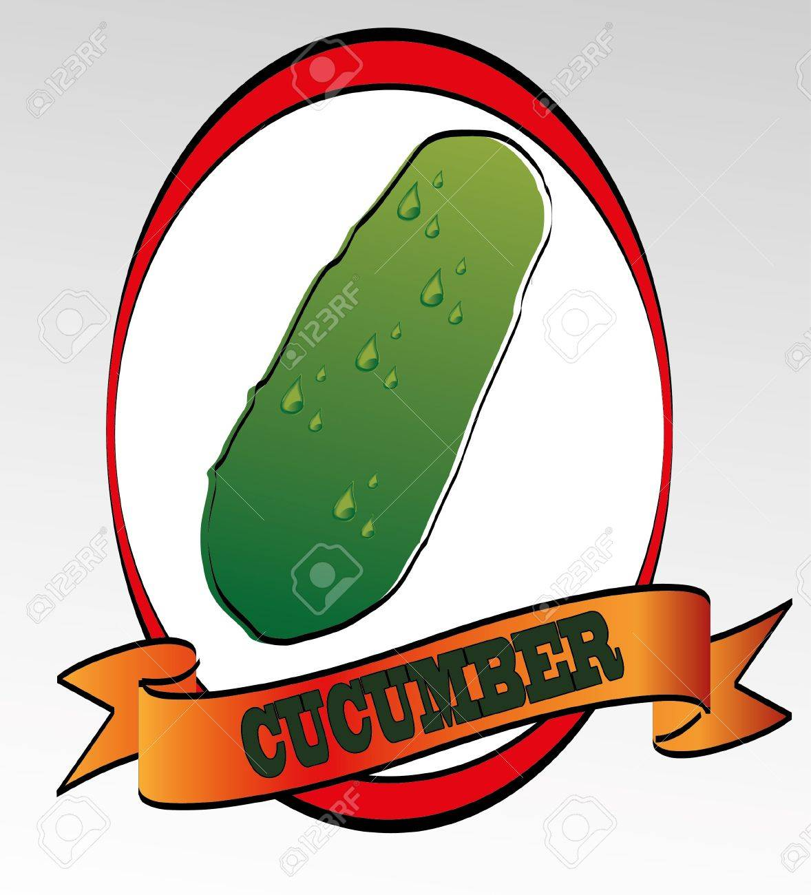 cucumber Stock Vector - 13342604