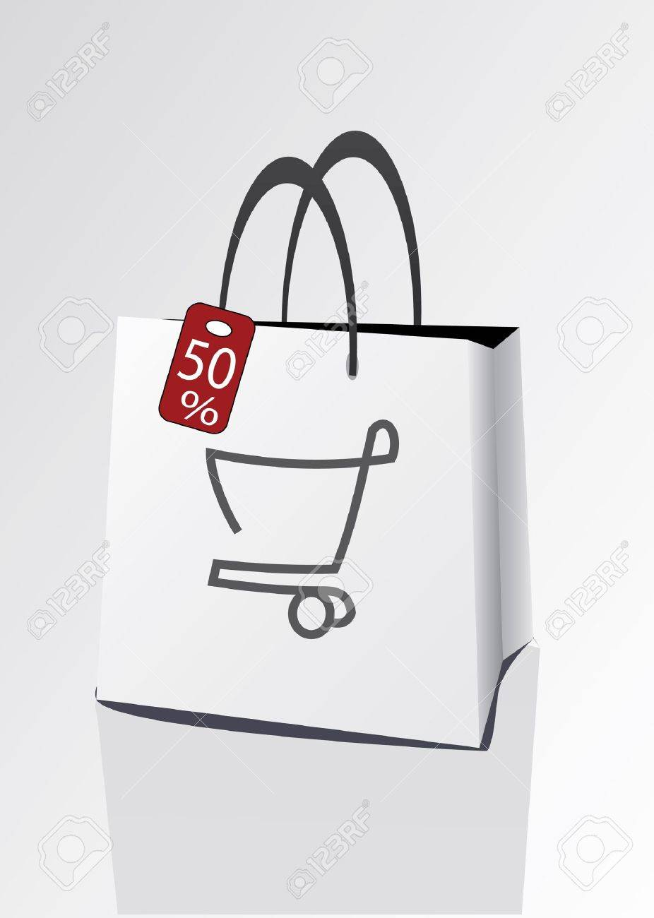discount for shopping Stock Vector - 13342562