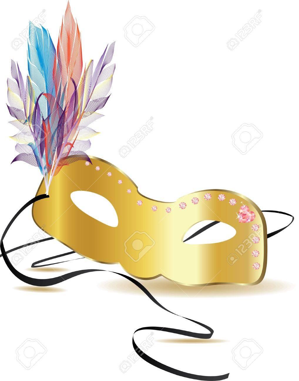 gold carnival mask Stock Vector - 13341745
