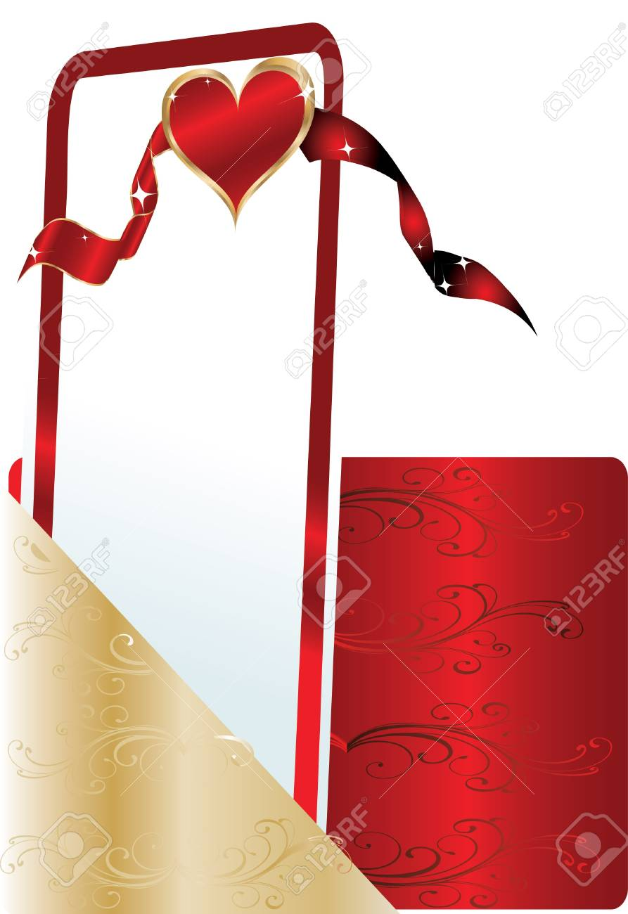 red greeting card Stock Vector - 13372364