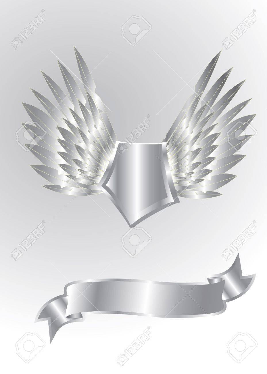 silver shield isolated Stock Vector - 13372330