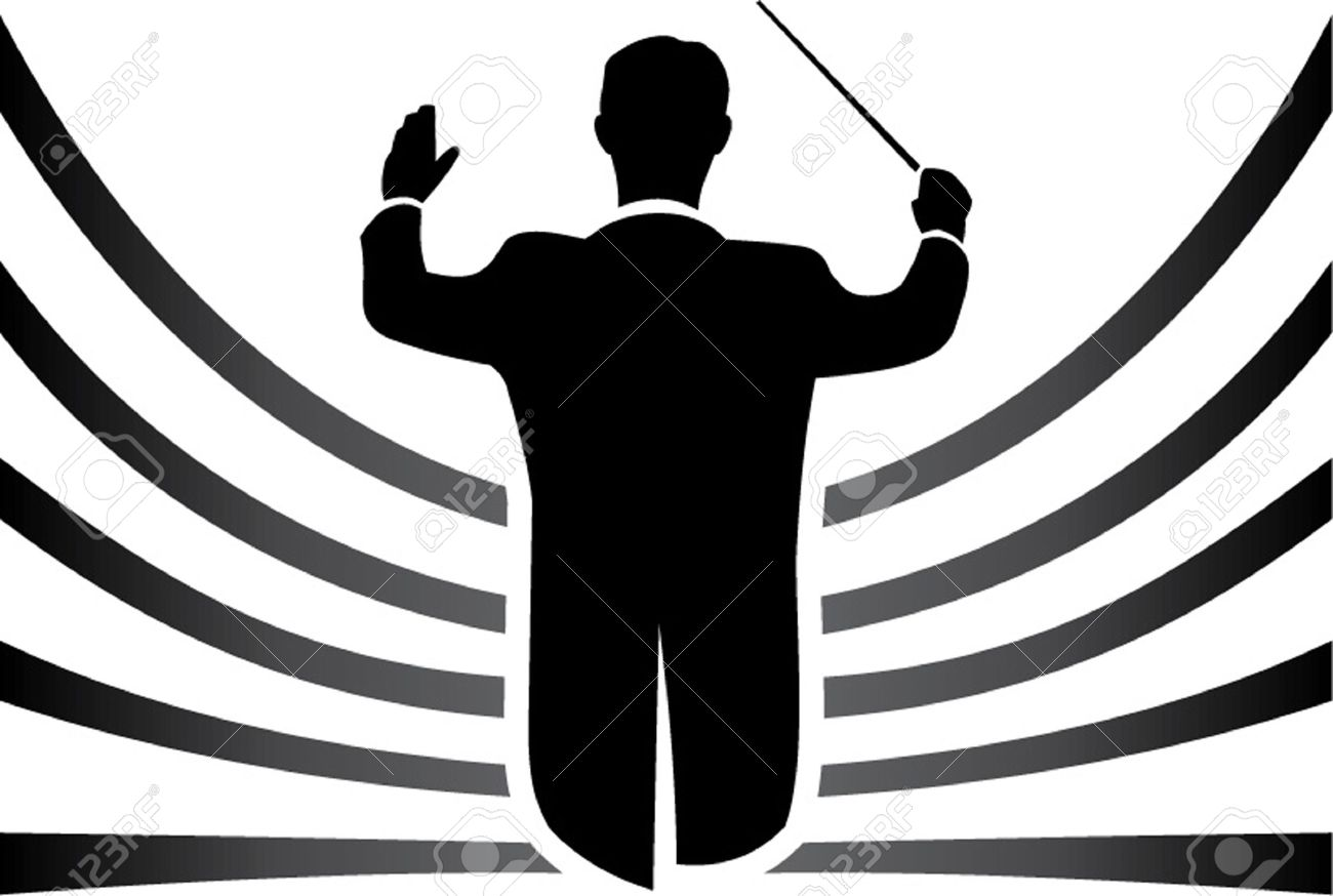 black and white conductor isolated Stock Vector - 21015909