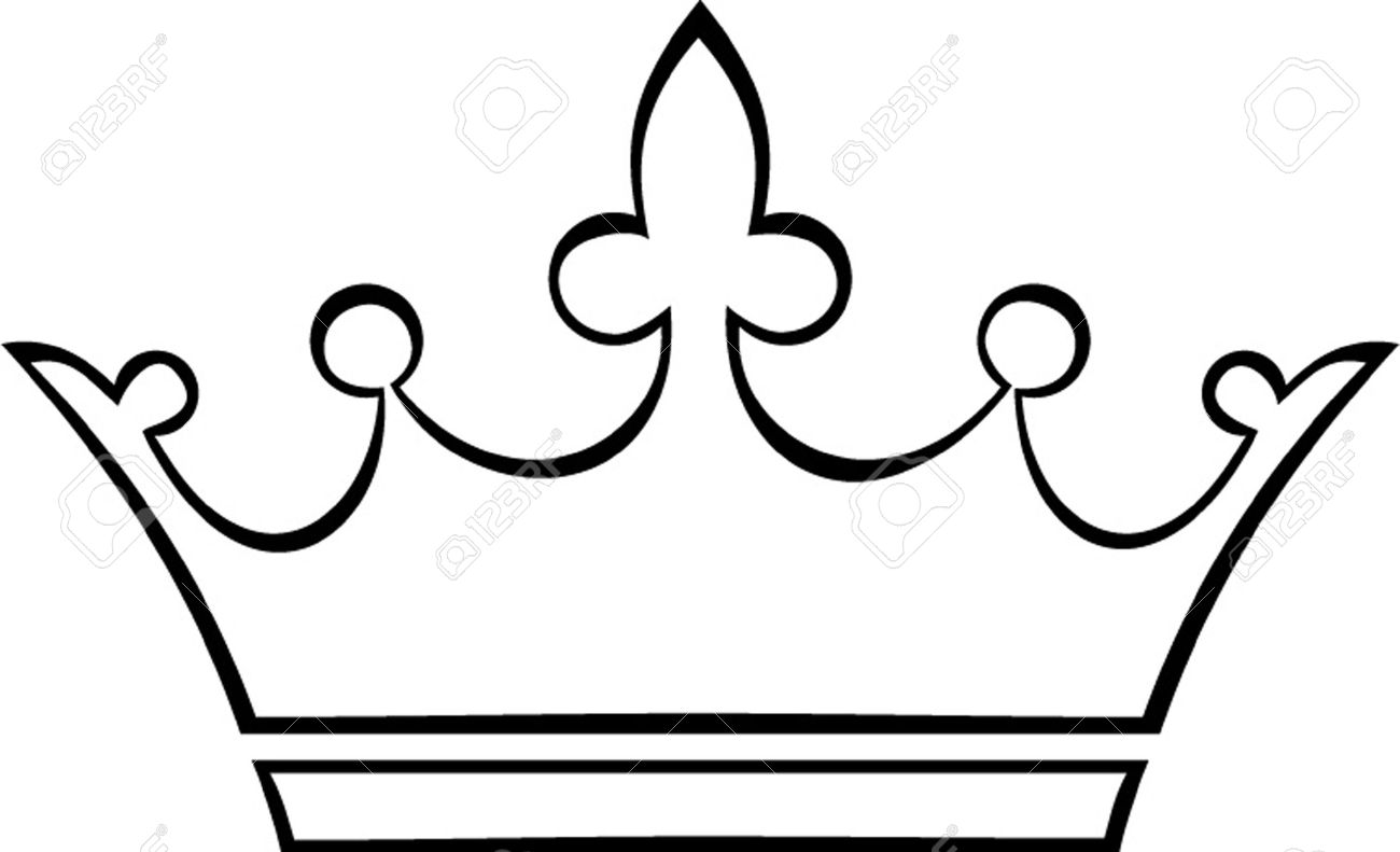 Vector - crown outline...