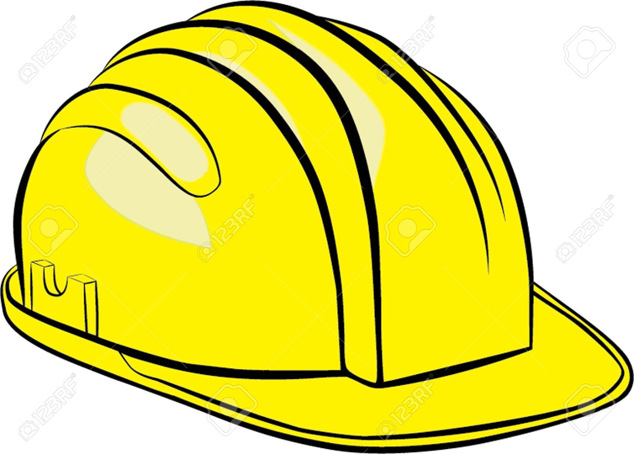 construction helmet isolated illustration royalty free cliparts rh 123rf com Construction Hat Clip Art Template construction hat clipart free