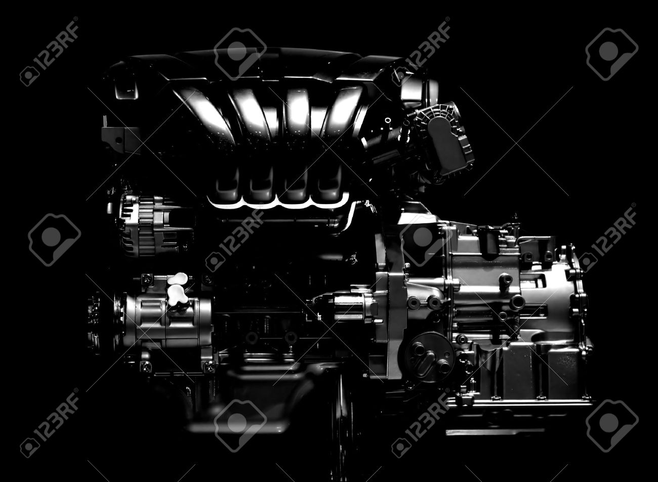 New Car Engine Isolated On Black Background Stock Photo Picture And Royalty Free Image Image 11321252
