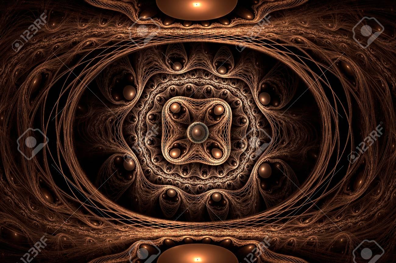Golden ring abstract fractal art Stock Photo - 19614014