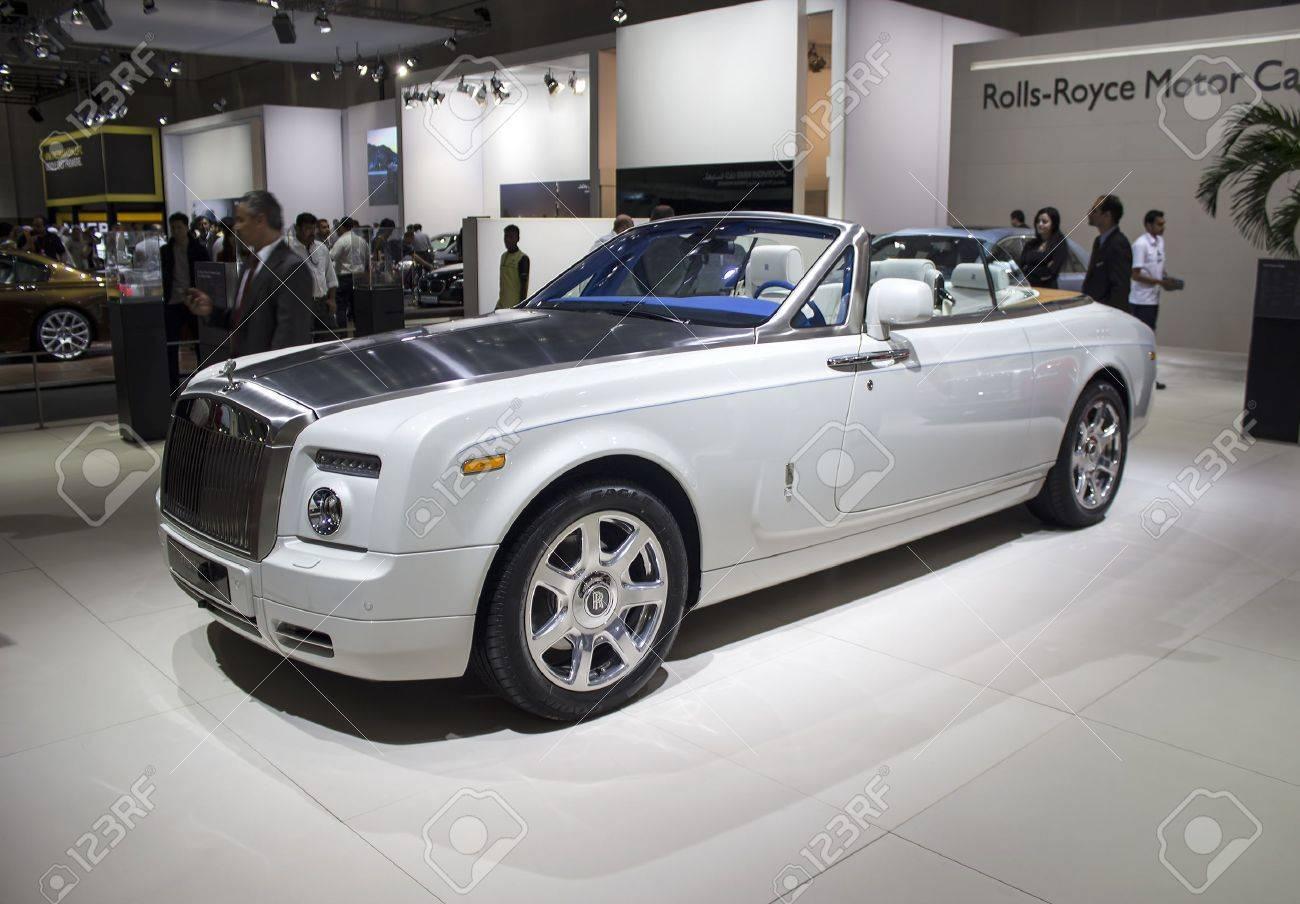 Dubai Uae November 14 2011 Rolls Royce Phantom Coupe White Stock Photo Picture And Royalty Free Image Image 19768843