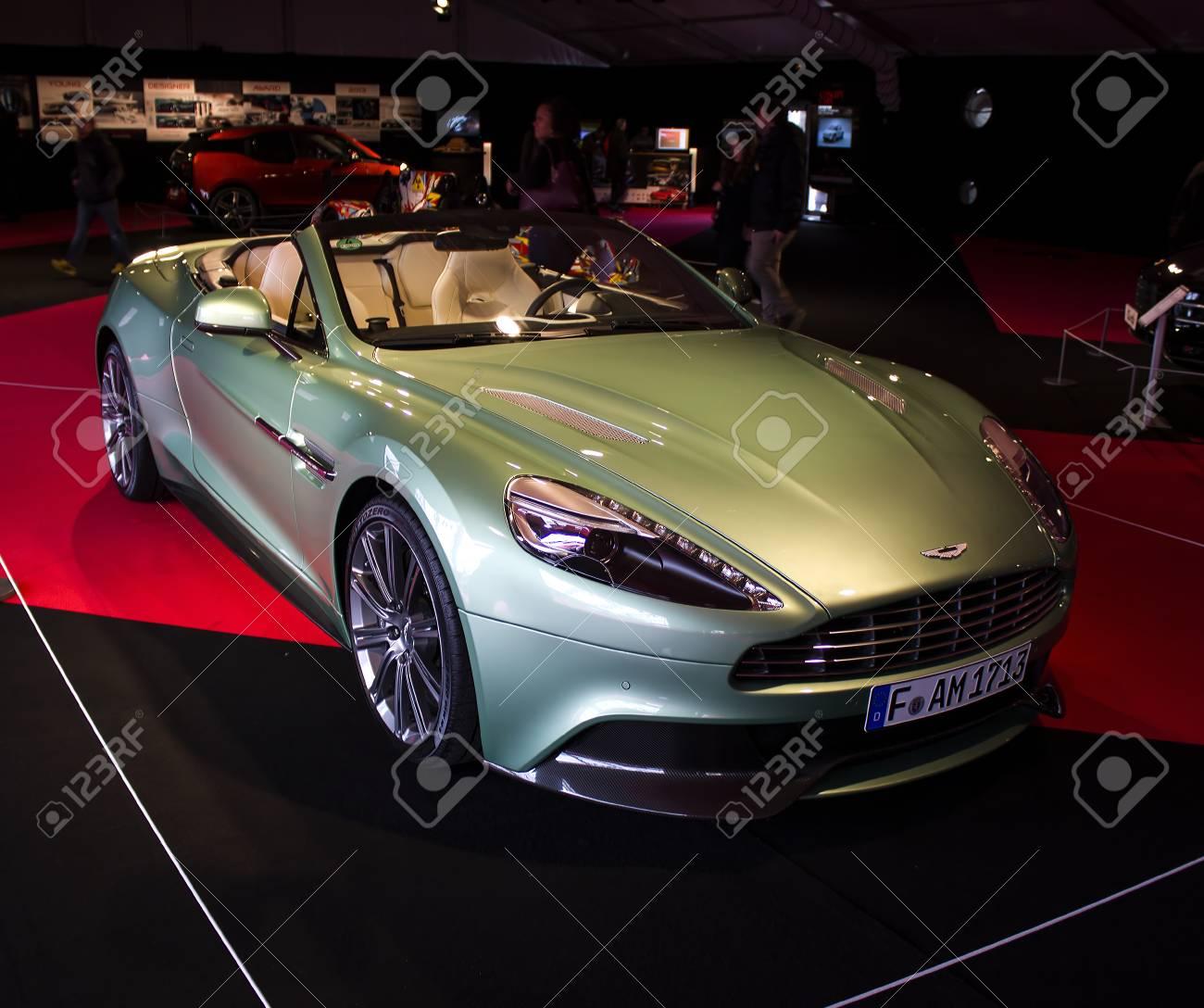 Paris January 30 Aston Martin Front View Concept Cars