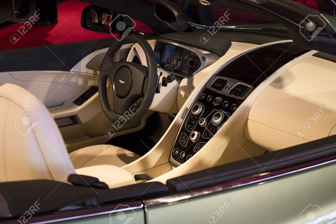 Paris January 30 Aston Martin Interior Concept Cars Exposition Stock Photo Picture And Royalty Free Image Image 25734370