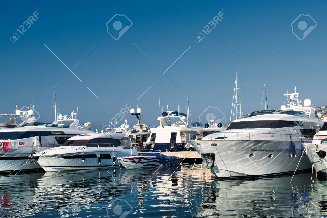 Port And Harbor In Saint Tropez Stock Photo Picture And Royalty