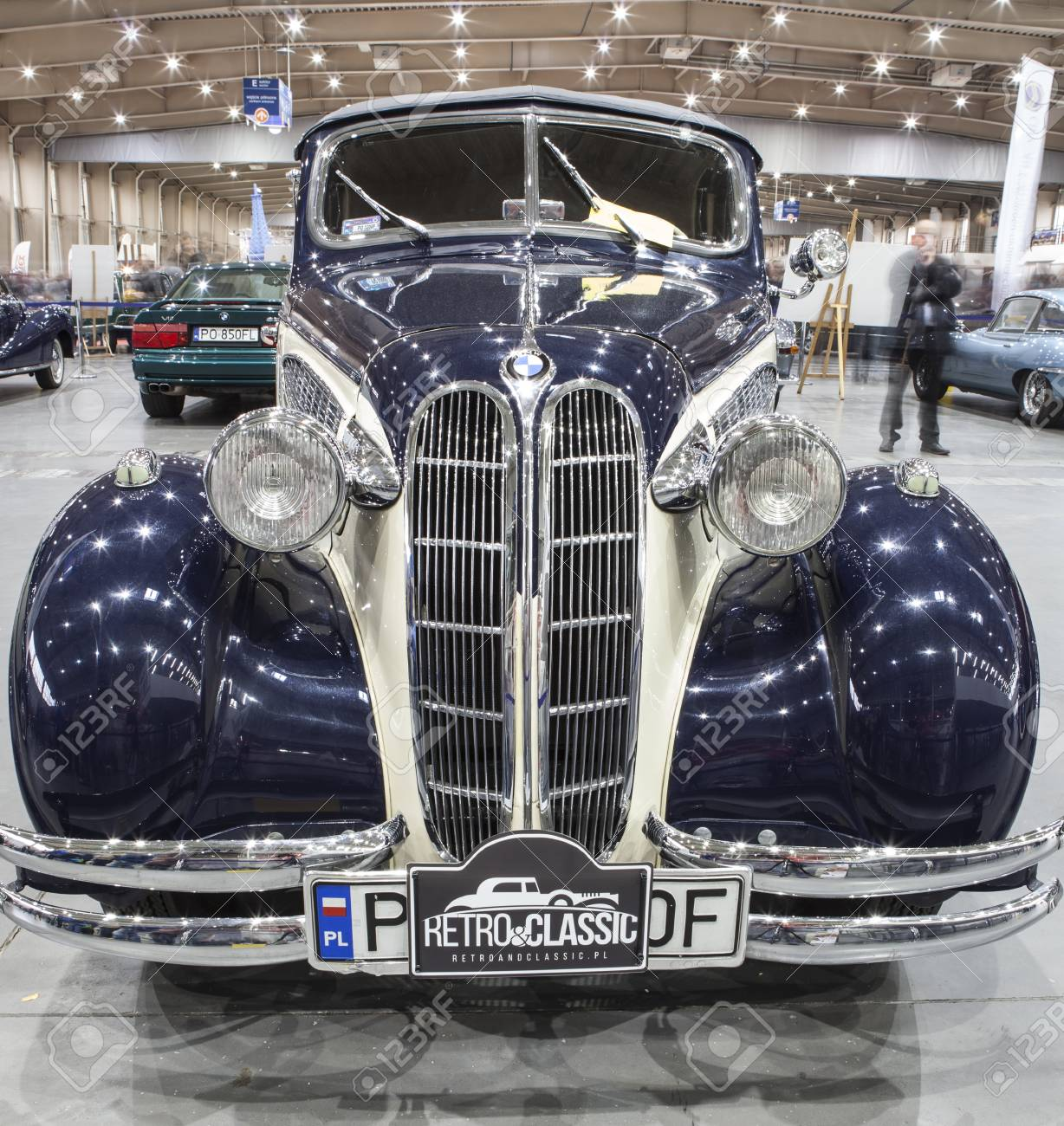 Old Car On Display At The International Fair In Poznan. BMW,.. Stock ...