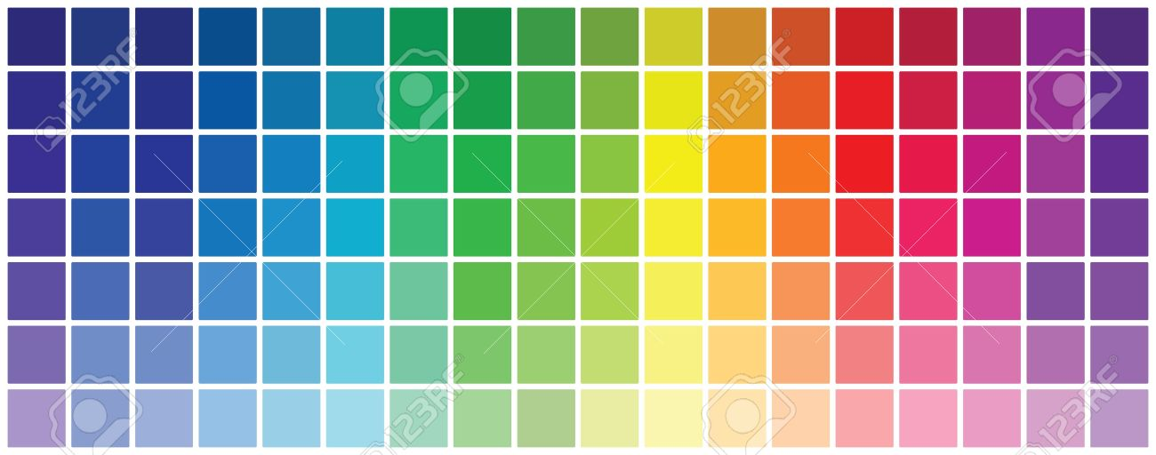 Abstract Colored Rgb Palette Royalty Free Cliparts, Vectors, And