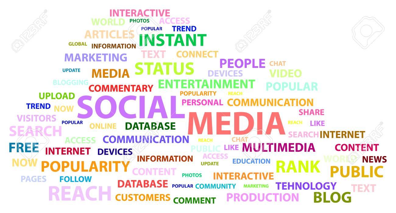 Social Media Words Stock Vector - 17872264