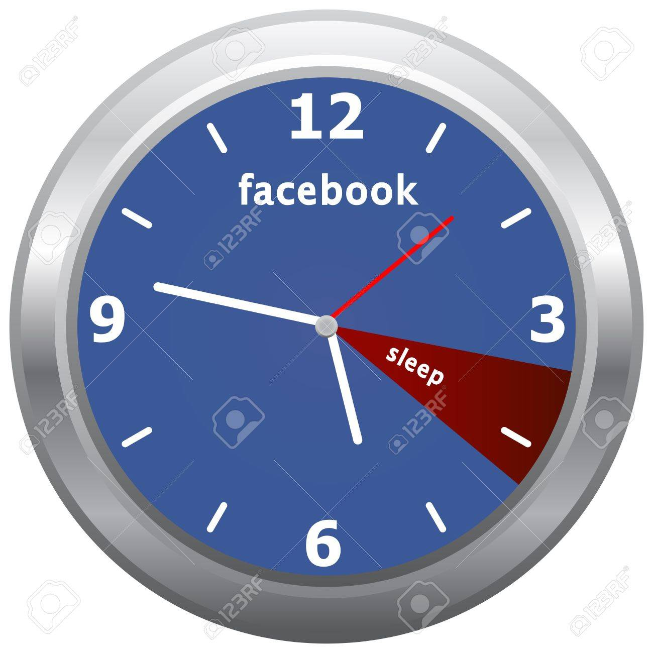 Facebook Addiction, All Day On Facebook and Only An Hour Of Sleep Stock Photo - 18305954