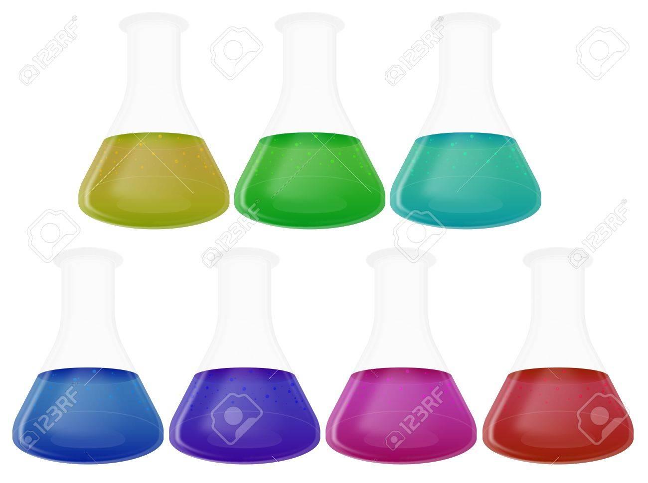 Laboratory Flasks Stock Photo - 18128205
