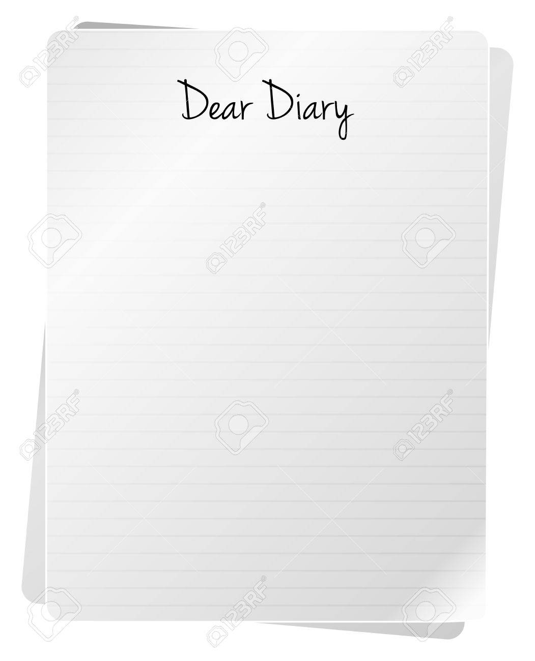 Introduction Of A Diary Stock Vector - 18159551